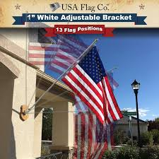 Spin Flag Flag Pole Mount White 1 Inch Diameter By Usa Flag Co
