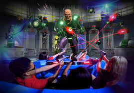 Is Six Flags Open On Christmas 4d Interactive Action Ride Justice League Battle For Metropolis