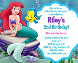 little mermaid birthday invitations little mermaid birthday