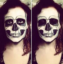 Skeleton Face Paint For Halloween by I Use Face Paint To Turn Myself Into Dark Or Strange Characters
