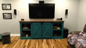 Barn Sliding Doors by Ana White Barn Sliding Door Console With Hardware Plans Diy