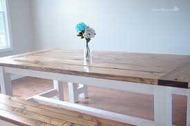 Farm Tables With Benches Diy Farmhouse Table And Bench Using Free Plans From Ana White