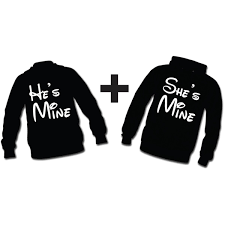 he u0027s mine she u0027s mine 2 hoodie sweatshirts for couple i love