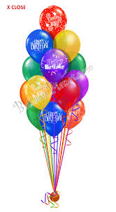 mylar balloon bouquet 12 balloon salute birthday balloon bouquet 12 balloons balloon