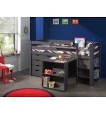combin bureau biblioth que lit combiné avec commode 4 tiroirs bureau et bibliothèque coloris