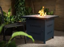 crawford u0026 burke nicoya square steel propane gas fire pit table