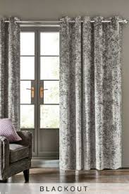 blackout curtains cotton velvet u0026 check blackout curtains next