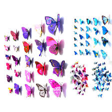 Home Decor Distributor 12 X 3d Butterfly Art Design Decal Wall Stickers Home Decor Room