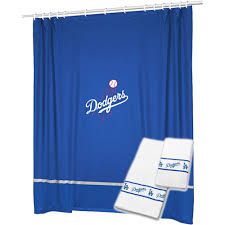 3pc mlb los angeles dodgers shower curtain and bath towels set mlb mlb 3pc mlb los angeles dodgers shower curtain and bath towels set baseball team logo