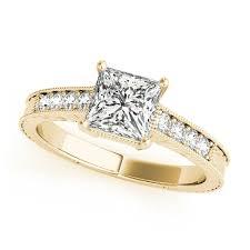 princess cut gold engagement rings gold engagement ring antique princess cut