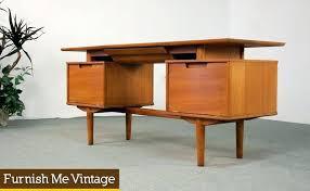 realspace dawson 60 computer desk retro writing desk retro for vanity desk credenza retro writing desk