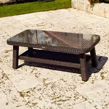 Wicker Accent Table Furniture Enchanting Outdoor Living Room Design Using Square