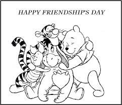 friendship coloring pages happy friendship u0027s winnie pooh