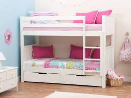 Stompa Classic Kids White Girls Bunk Bed Stompa Bunk Beds - Girls white bunk beds