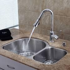 Double Stainless Steel Kitchen Sink by Kitchen Kraus Kbu21 Kpf1650 Ksd30ch 30 Undermount 60 40 Double