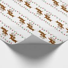 dachshund christmas wrapping paper sausage wrapping paper zazzle