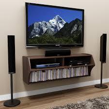 prepac espresso altus wall mounted audio video console tv stand