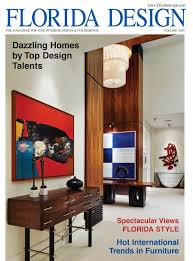 on the cover of the current fall issue of florida design magazine