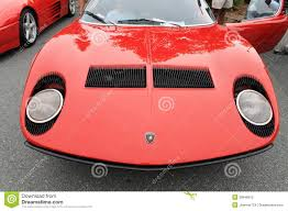 lamborghini front drawing classic red lamborghini sports car front editorial photo image