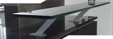 Glass Breakfast Bar Table Black Glass Breakfast Bar Table Complete Kits Black Glass