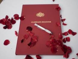 wedding register book legalities brad whitelock cmc wedding celebrant perth