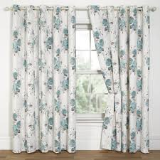 White And Teal Curtains White Patterned Curtains Homesfeed