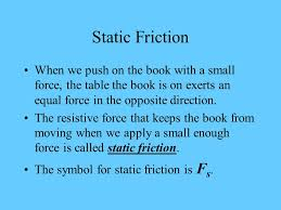 The Book Is On The Table Forces U0026 Motion The Force Of Friction Frictional Forces