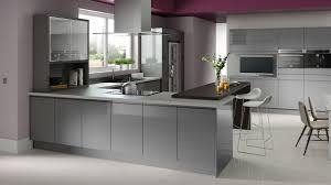 House And Home Kitchen Designs Fusion Gloss Grey Rta M Renovate Pinterest Gray Kitchens
