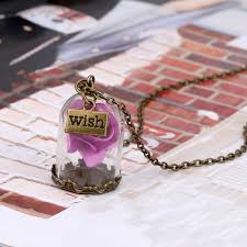Forever Rose In Glass Dome Online Buy Wholesale Rose Wishing Bottle Necklace From China Rose