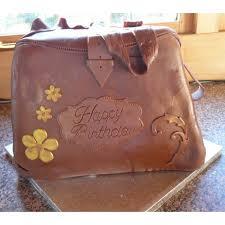 brown leather look handbag birthday cake celebration cakes by carol
