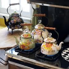 mackenzie childs vase buy mackenzie childs flower market enamel tea kettle black amara
