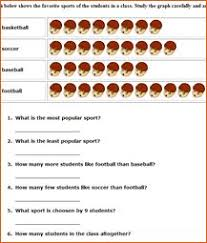 comparing pictographs football time worksheets math worksheets