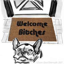 welcome bitches doormat funny sassy buzzfeed eco friendly