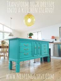 Turquoise Kitchen Island by Transformed Vintage Dresser To Kitchen Island U2014 Nesting Gypsy
