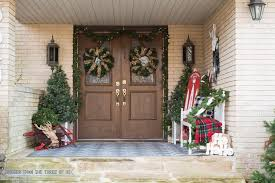 Christmas Decorations For Your Front Porch by Decorating Your Front Porch For Christmas Bigger Than The Three