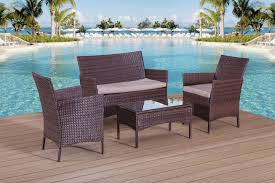 Rattan Outdoor Patio Furniture by Rattan Garden Furniture Set Sofa Table And Chairs Patio