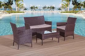 Garden Patio Furniture Sets - rattan garden furniture set sofa table and chairs patio