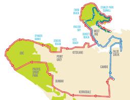 Vancouver Canada Map by Bmo Vancouver Marathon Road Closures