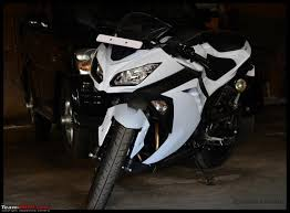 my fair lady the kawasaki ninja 300 pearl stardust white
