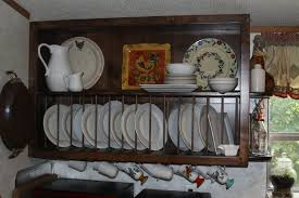 Kitchen Rack Design by Furniture Charming Kitchen Decoration With Wooden Plate Rack Wall