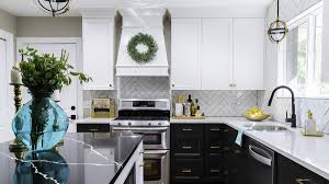 are grey kitchen cabinets timeless black and white kitchen chic and timeless side design