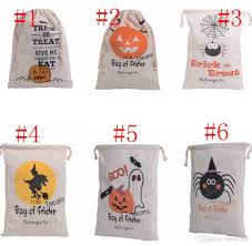 halloween candy gifts bag treat or trick drawstring bag cotton