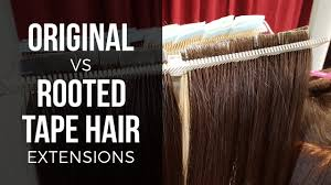 Allure Hair Extensions by Original Tape Tabs Vs Rooted Follicle Tape Hair Extensions