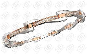 rose gold stainless steel bracelet images Rose gold women stainless steel bracelets with clear crystals jpg