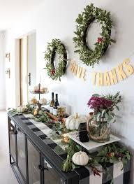 thanksgiving sideboard decor u0026 entertaining ideas