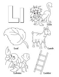 l for leaf coloring pages