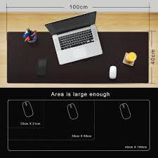 aliexpress com buy cacoy oversized 39 4x15 7inch pu leather desk