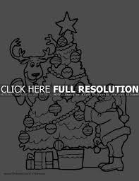 christmas tree coloring print u2013 christmas fun zone