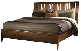 Solid Wood Sleigh Bed Cherry Park Solid Wood Sleigh Storage Bed Code Univ20 For 20