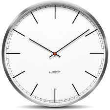 one25 wall clock stainless steel white index leff amsterdam